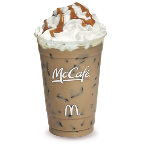 McCafé Iced Caramel Mocha, McDonalds, Mount Clemens, MI in