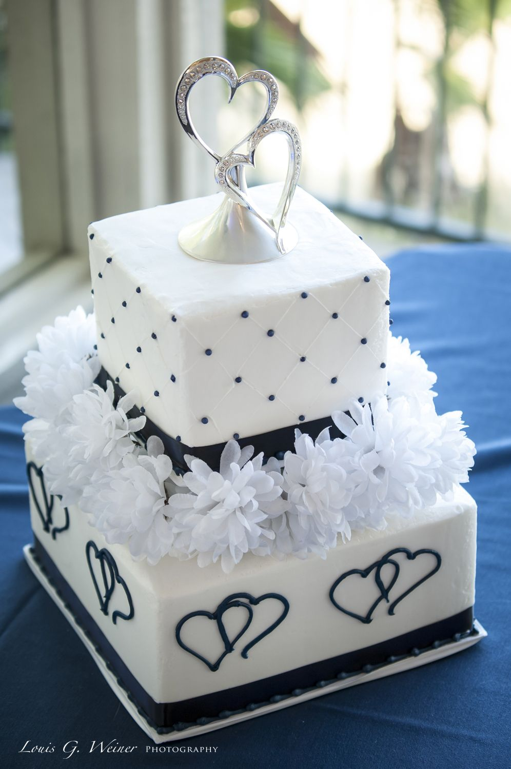 Heart Themed Wedding Cake By Michelle S Bakery In Redlands Ca