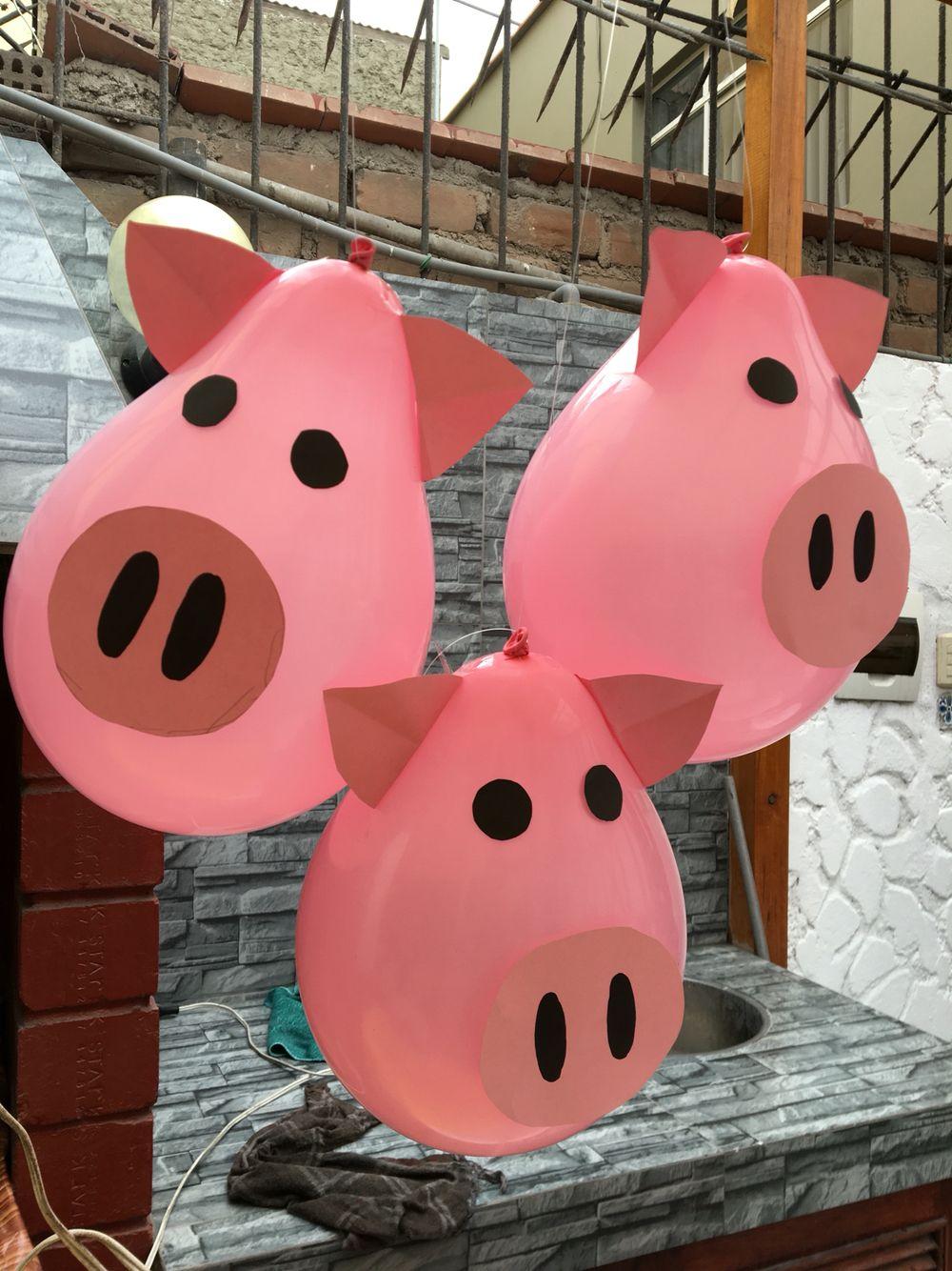 Pig Balloons Globos De Chanchitos Farm Party Decoraci 243 N De
