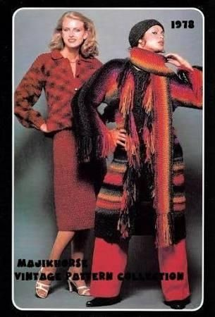 Vintage Crochet Pattern 1970s Hippie Bohemian Long Fringe Sweater Coat Hat & Chic Sweater Skirt Set Instant Download PDF majikhorsefabrics - Brought to you by Avarsha.com