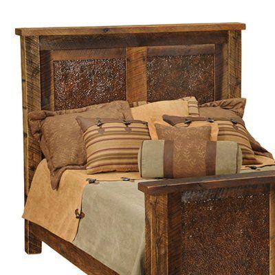 Fireside Lodge Furniture B10 Barnwood Copper Inset Headboard House
