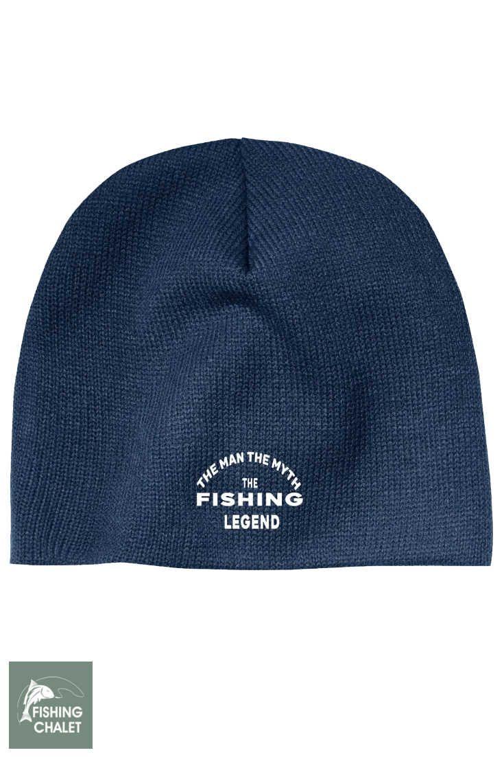The Man The Myth The Fishing Legend Beanie Cap  f71931a8c51