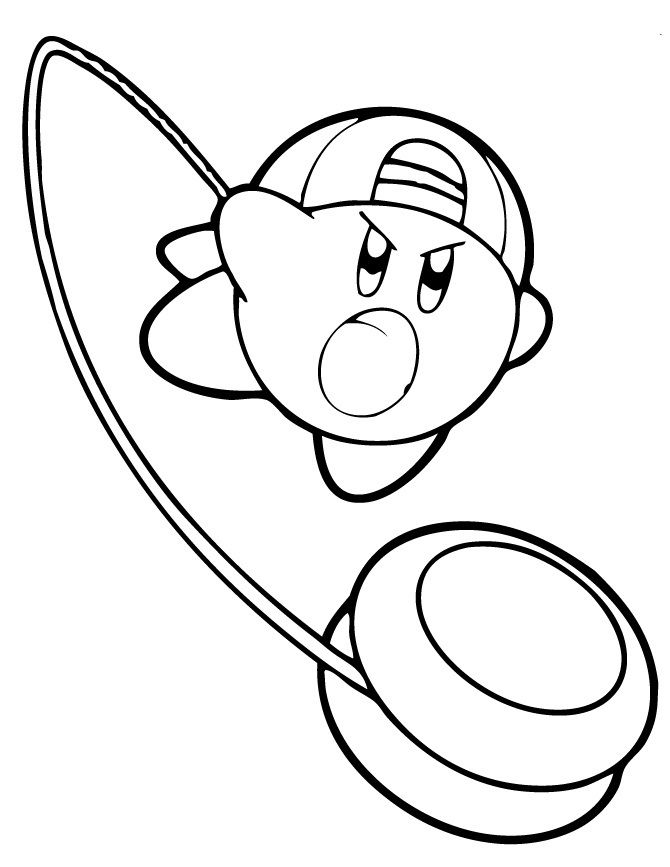 Kirby Coloring Pages Yoyo