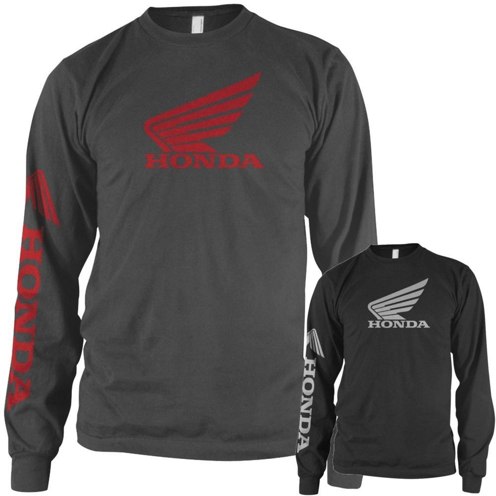 Honda Wing Official Motor Company Long Sleeve Motorcycle Street Riding Tee