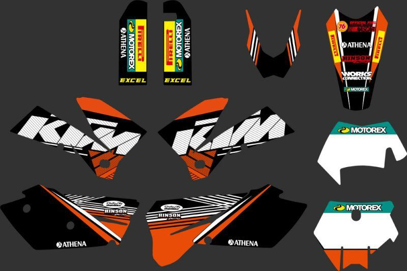 0270 Orange Black New Team Graphics With Matching Backgrounds Fit For Sxf Mxc Sx Exc Series 2005 2006 2007 Ktm Ktm 125 Motorbike Accessories