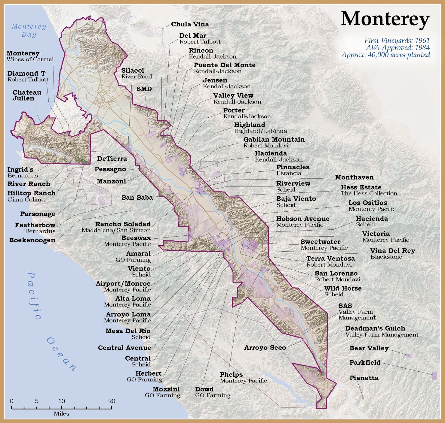Monterey AVA  Wine Making  Pinterest  Wine Wine education and
