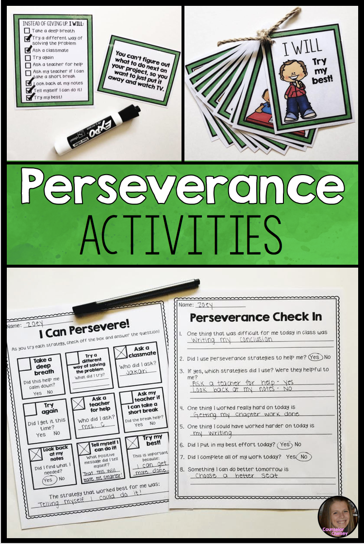These Perseverance Activities Will Help Your Kids Develop A Growth Mindset And Learn Strat Perseverance Activities Growth Mindset Elementary Mindset Activities