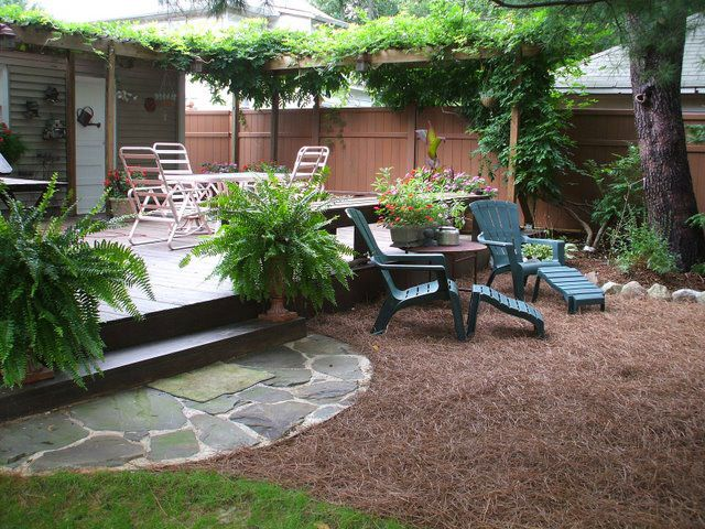 Pine Straw Mulch Nice For A Small Backyard Gardening