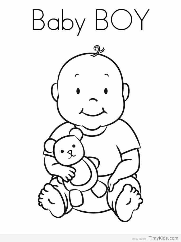 Timykids Baby Boy Coloring Page