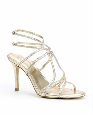 Wedding Day: Strappy Metallic Sandals
