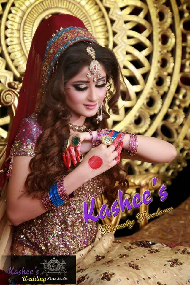 Bridal Makeup By Kashee S Beauty Parlour Bridal Makeup Pictures India Wedding Dress Asian Bridal
