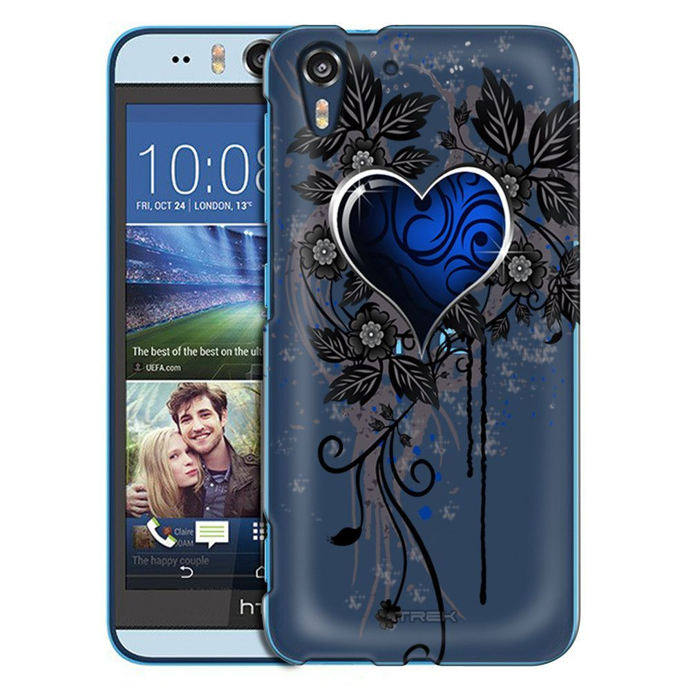 HTC Desire EYE Highlighted Heart Blue Case
