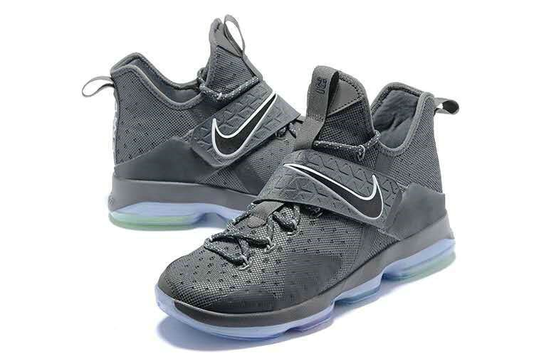 a93597c9ee99 Original 2018 LeBron 14 XIV Wolf Grey Silver 2018 Lebron James Sneakers