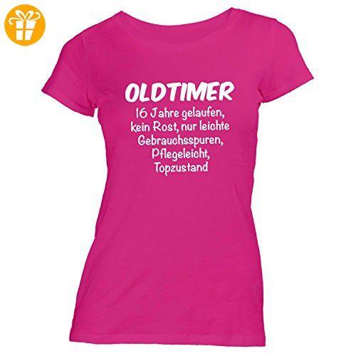 Damen T Shirt Oldtimer Geburtstag 16 Jahre Birthday 16 Years