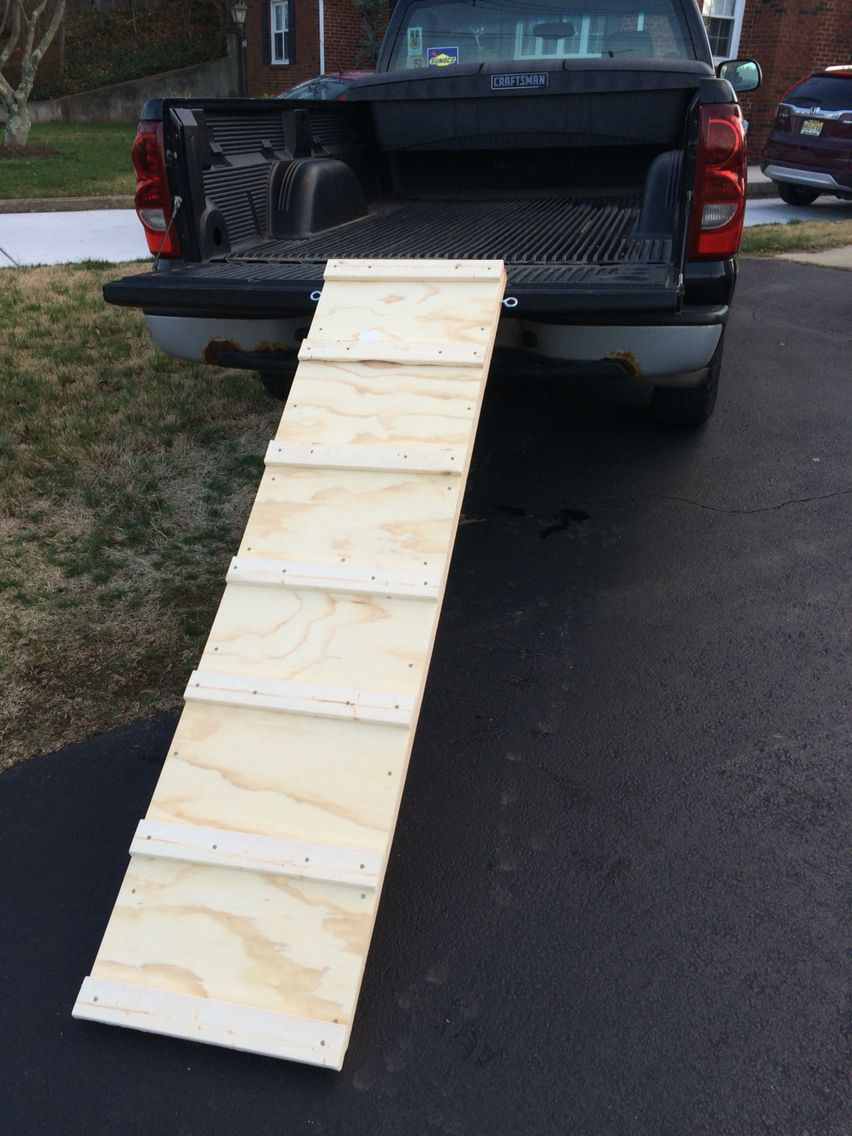 Dog ramp i built for when i volunteer at my local shelter
