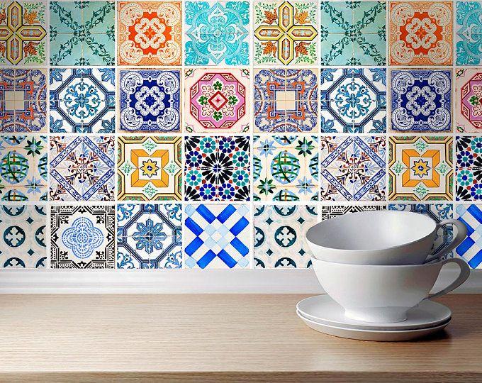 Fliesenaufkleber Talavera Stil Klassischen Traditionelle Etsy Spanish Tile Tile Decals Kitchen Tiles
