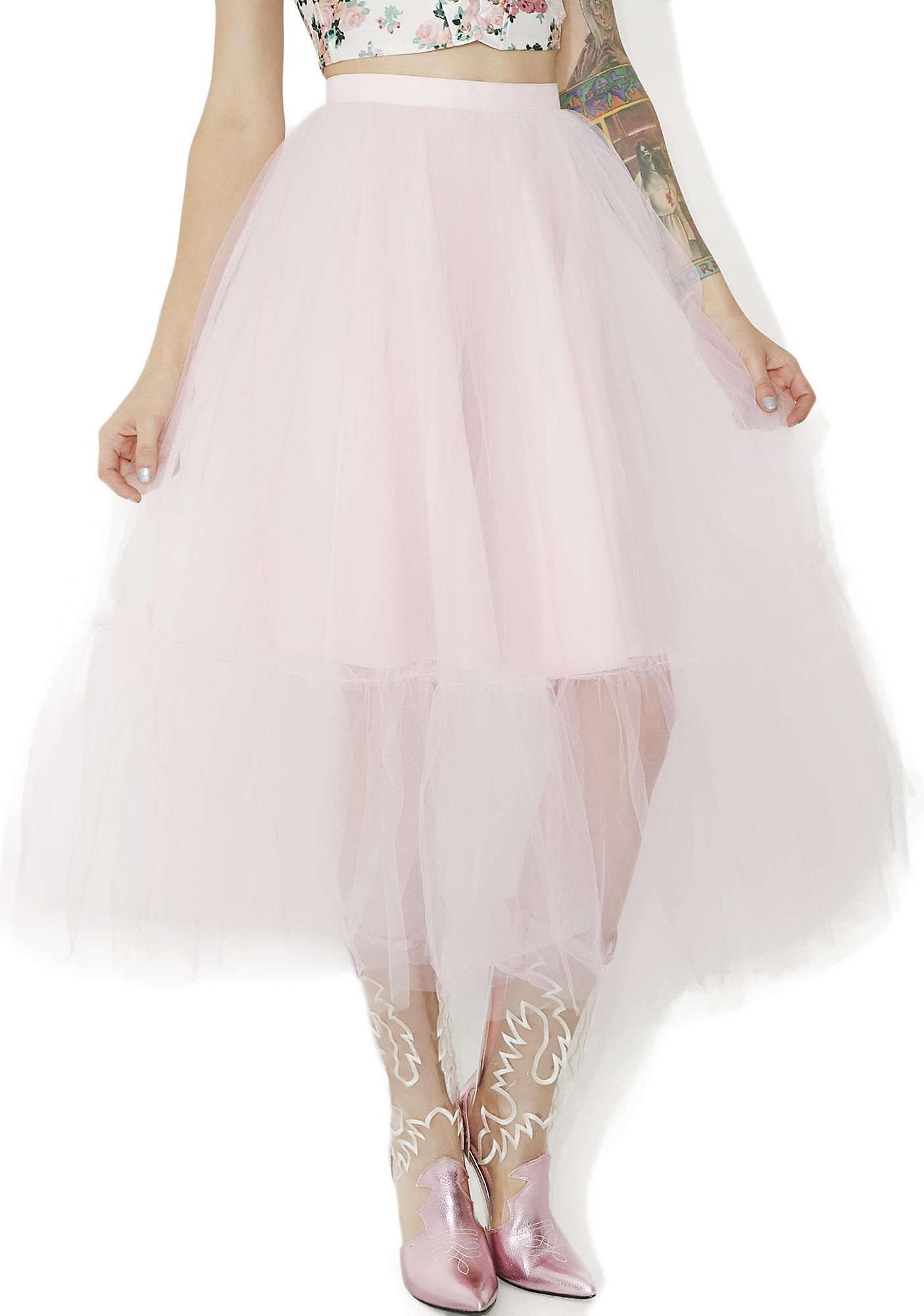 5eeeccbbd6616 Party Time Tulle Midi Skirt will keep you dancin' all night long ...