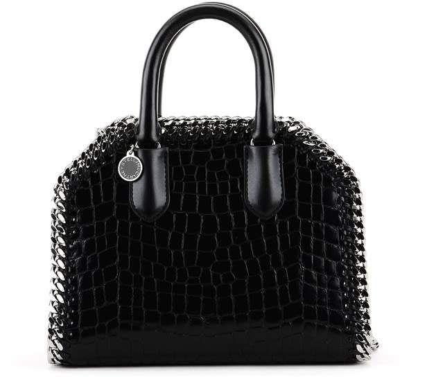 431bfc0893ae Italian designer Luxury Fashion for Men   Women. Stella McCartney Black  Croco Print Falabella Mini Box Bag