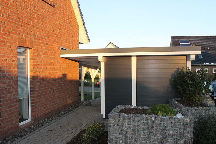 Carport Verkleidung Mit Sichtschutz In Anthrazit Carport Gartengestaltung Sichtschutz