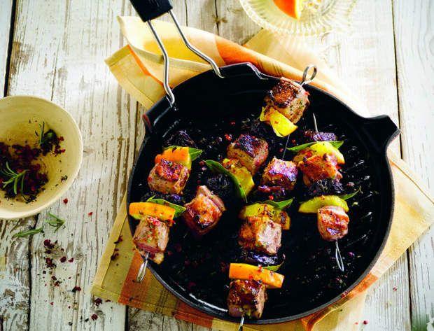 Brochettes de canard, prune et orangeDécouvrez la recette des brochettes de canard, prune et orange.