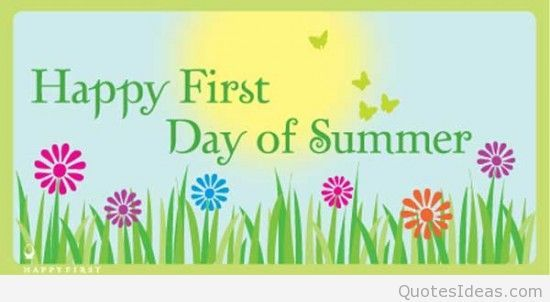 happy official first day of summer summer summersolstice june21 rh pinterest com first day of summer 2016 clipart First Day of Spring Happy Summer Clip Art