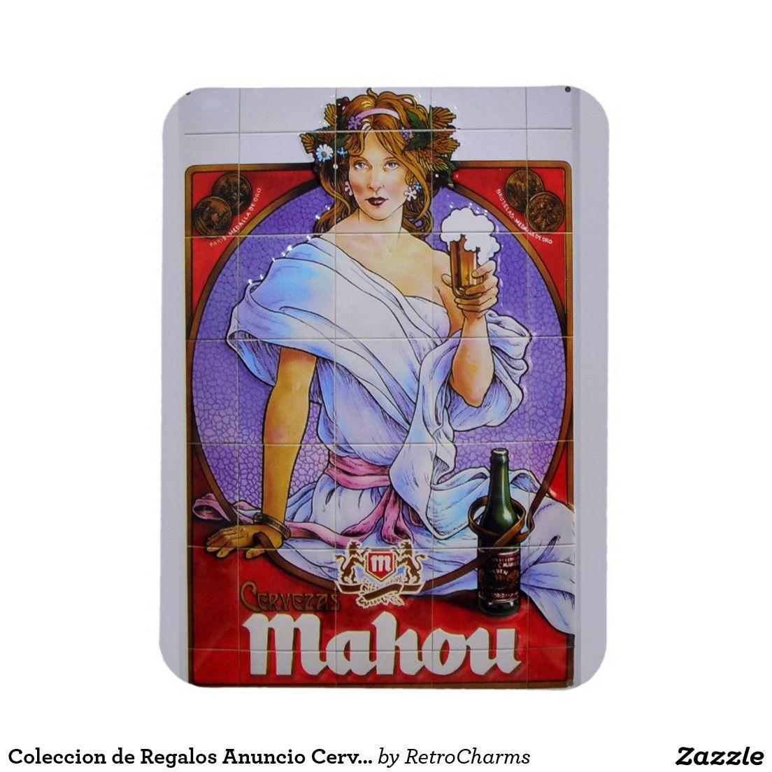 Coleccion de Regalos Anuncio Antiguo Cerveza Mahou Vintage