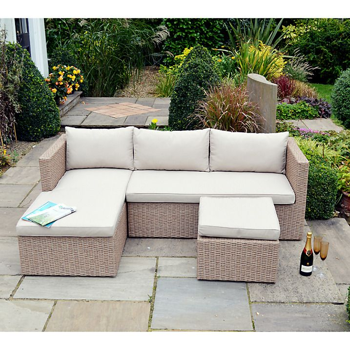 Buy Leisuregrow Saigon Outdoor Sofa with Chaise Longue End Online at ...