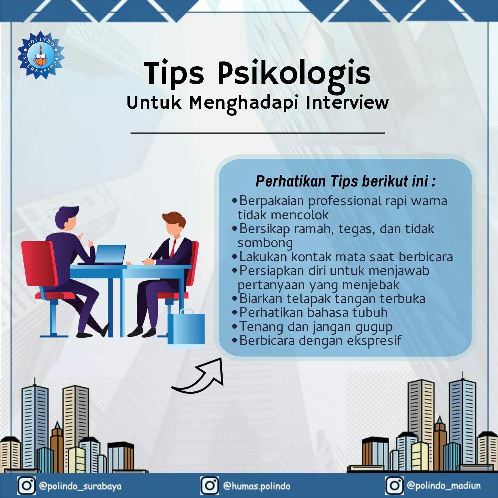 Tips Interview Kerja Bahasa Tubuh Motivasi Pengetahuan