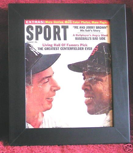 NEW YORK YANKEE GIANTS FRAMED 1964 SPORT MAGAZINE ON CANVAS MAYS DIMAGGIO COVER $58.99