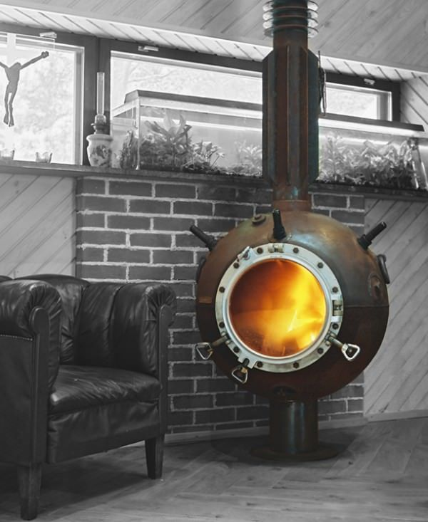 10 recycled marine mine furniture s fireplaces heaters rh pinterest es