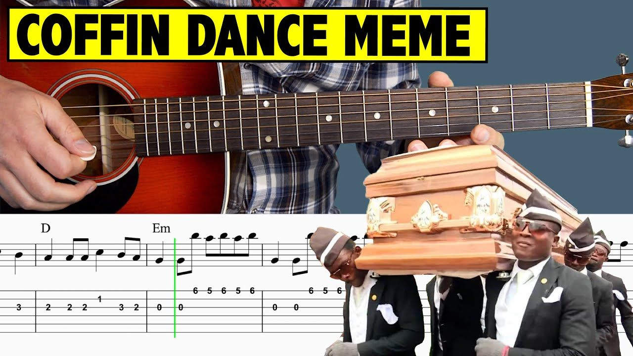 Astronomia Meme (Coffin Dance Meme) Guitar Tutorial +FREE