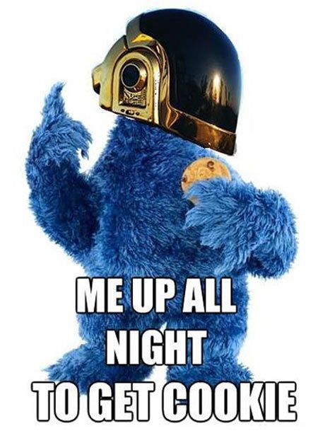 He up all night to get cookie