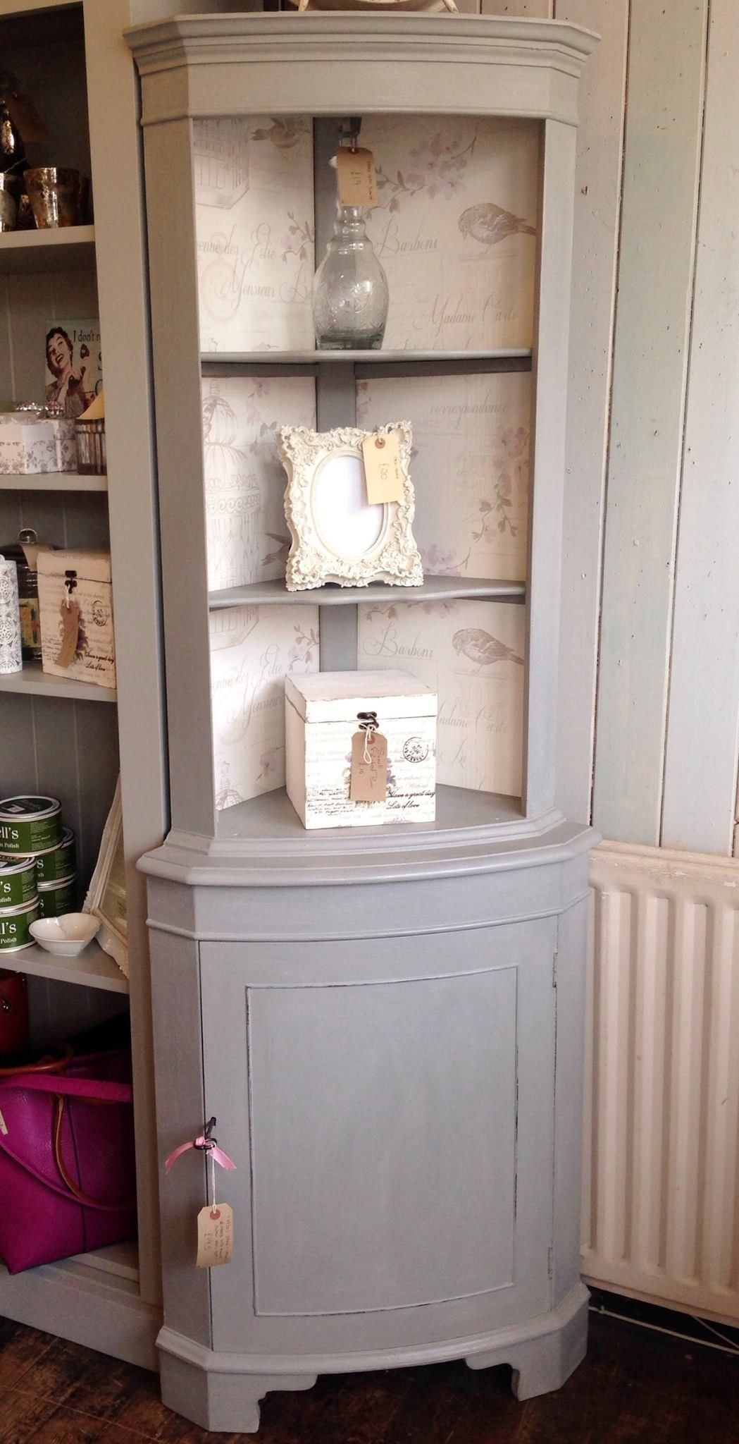 Best Corner Drinks Cabinet Painted With Annie Sloan Paris Grey 640 x 480