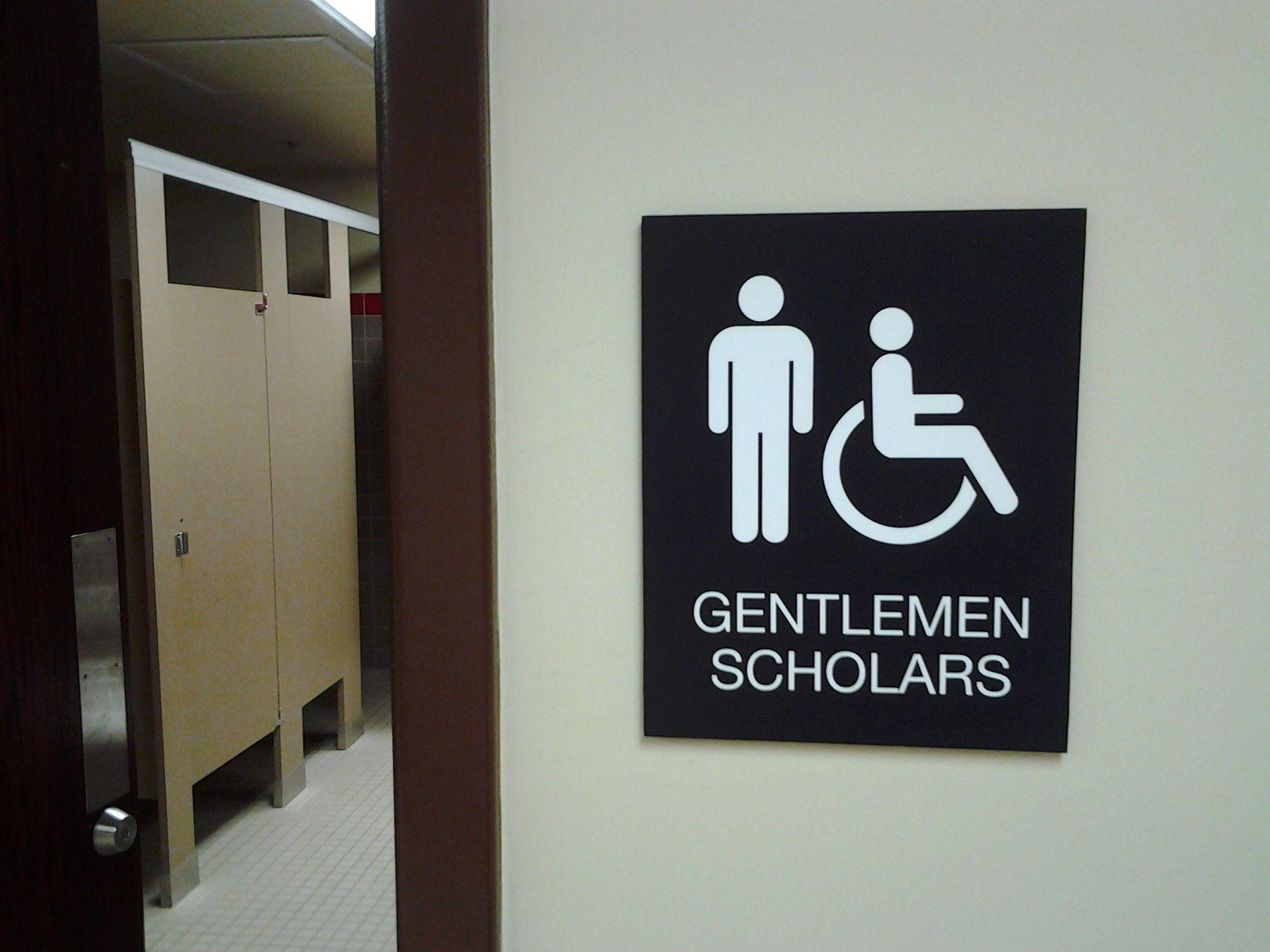 Bathroom door signs gentlemen scholars a collection of toilet