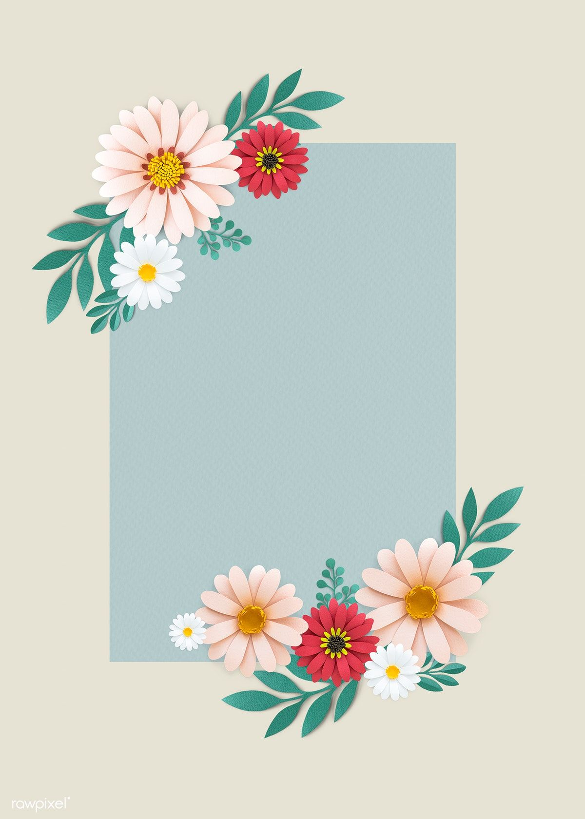 Design Trends Premium Psd Vector Downloads: Download Premium Psd Of Blooming Floral Frame Design Vector 1202558 In 2020
