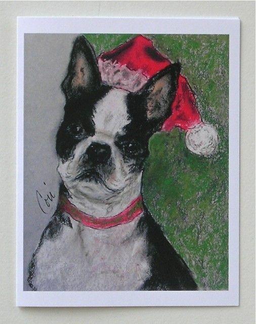 Boston Terrier Dog Art Notepad By Cori Solomon