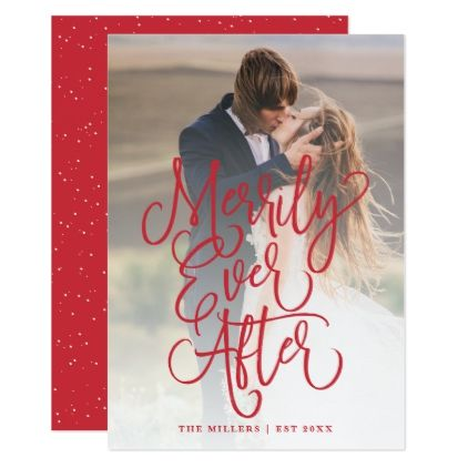 Merrily Ever After Wedding Holiday Full Photo Red Card