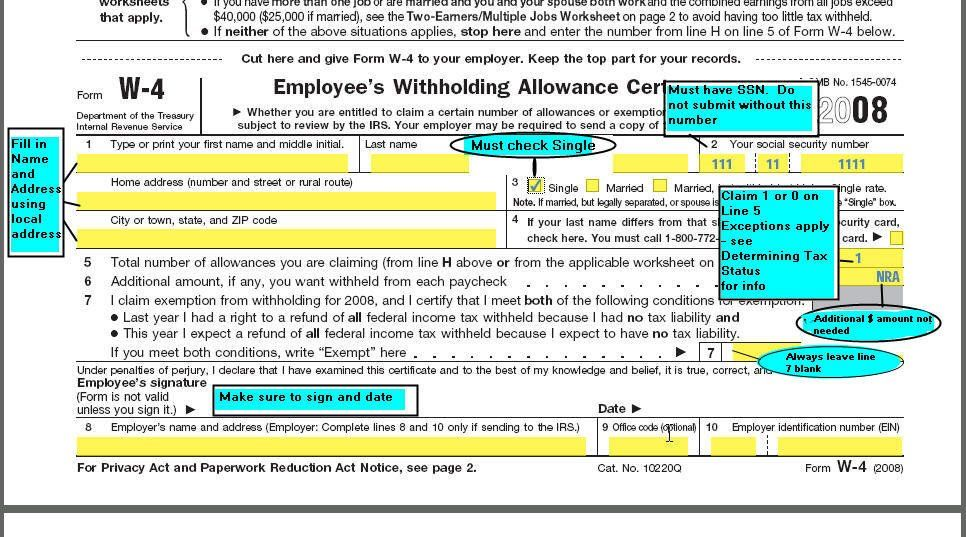 Fillable W 4 form Michigan W 4 form and Instructions for