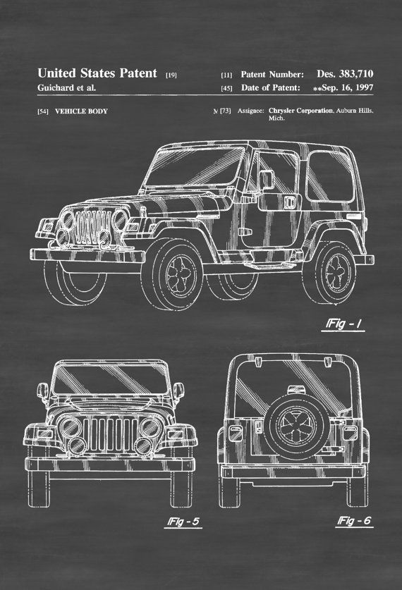 Jeep wrangler patent patent print wall decor automobile decor jeep wrangler patent patent print wall decor automobile decor automobile art classic car jeep patent jeep wrangler blueprint pinterest cuadro y malvernweather Gallery