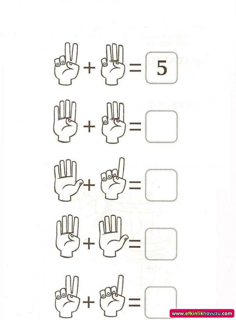 okul öncesi basit toplama işlemi - Google\'da Ara   basit toplama ...