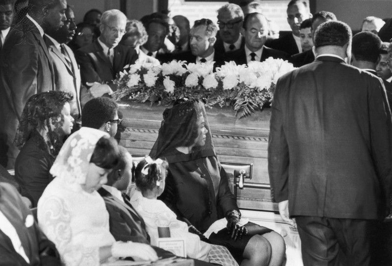 Coretta Scott King at the Rev. Martin Luther King, Jr.'s funeral