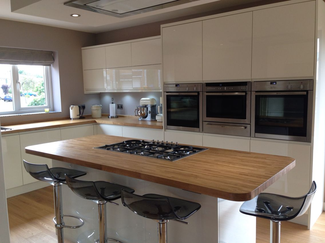 Kitchen Island John Lewis my new kitchen/dining room. lucente cream gloss units, luxair