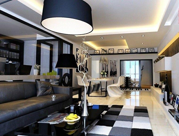 Schwarz Weiss 50 Ideen Fur Die Moderne Und Elegante Lounge Elegante Ideen Lounge Moderne Schwarz In Unserem Art Wohnzimmer Dekor Haus Deko Modern