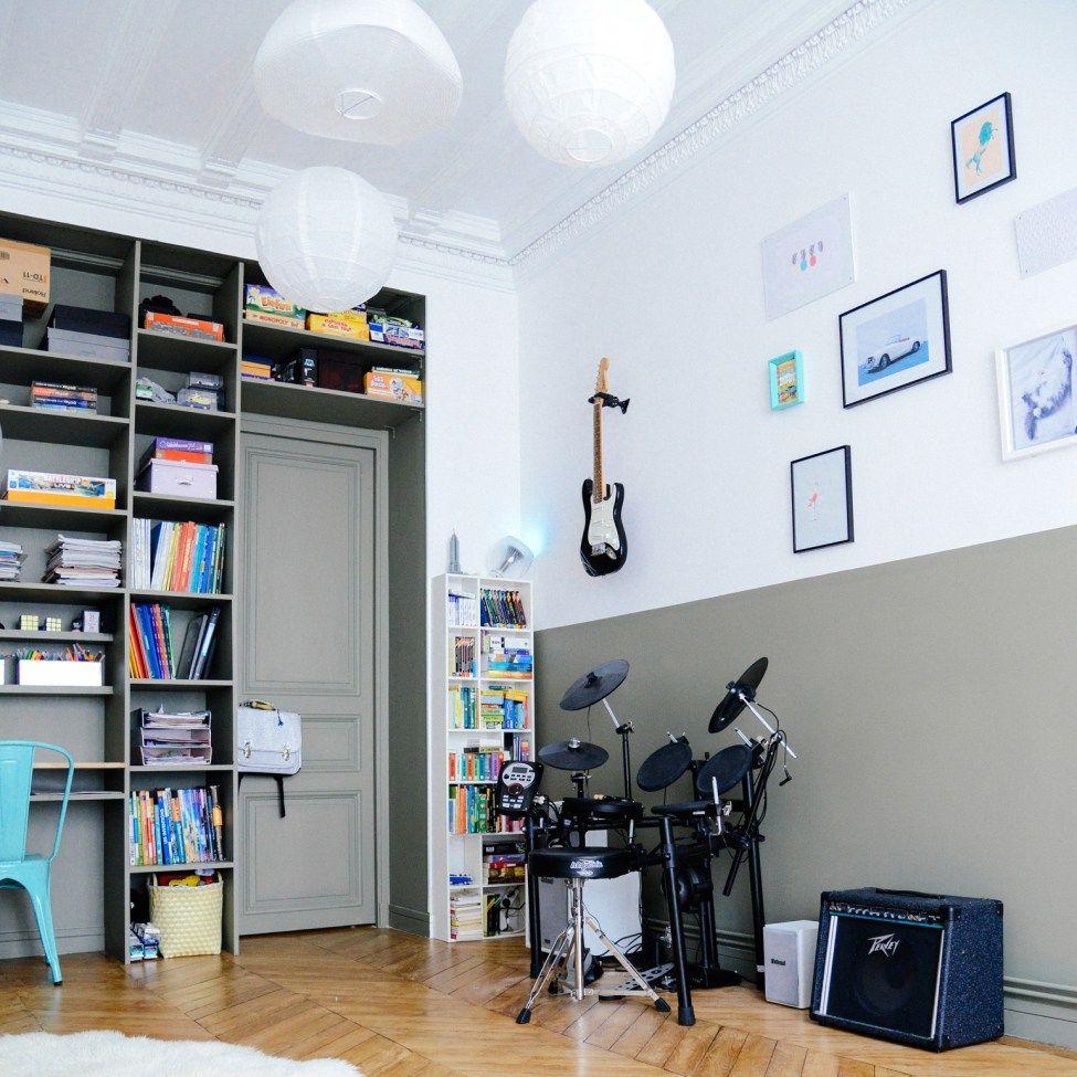Décoration chambre ado - Rock, musique, kaki | Décoration chambre ...