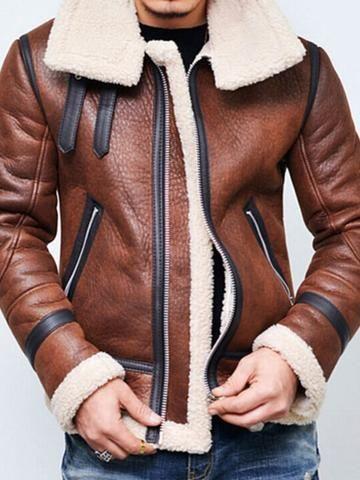 02f678add28 Men s Faxu Leather Jacket