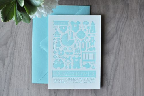 All about blue Letterpresses and Stationery design