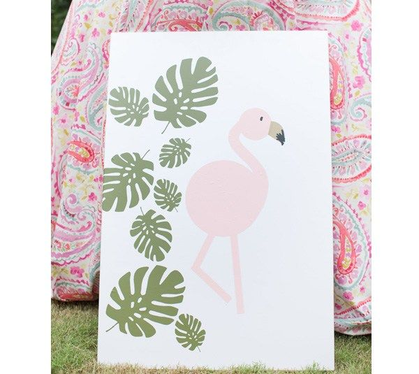 "The kiddies need to be entertained and what better way than with this adorable ""Pin the Wing on the Flamingo."""