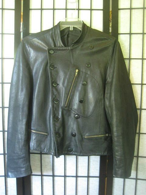 Vintage Agnes B. Homme Black Leather Jacket French by girlgal6