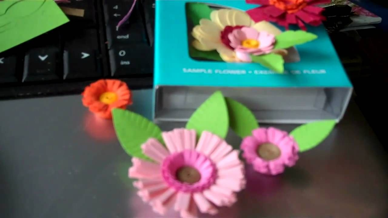Cuttlebug Quilled Flowers