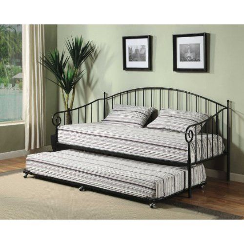 Matt Black Metal Twin Size Day Bed (Daybed) Frame ($159.99) | Cool ...